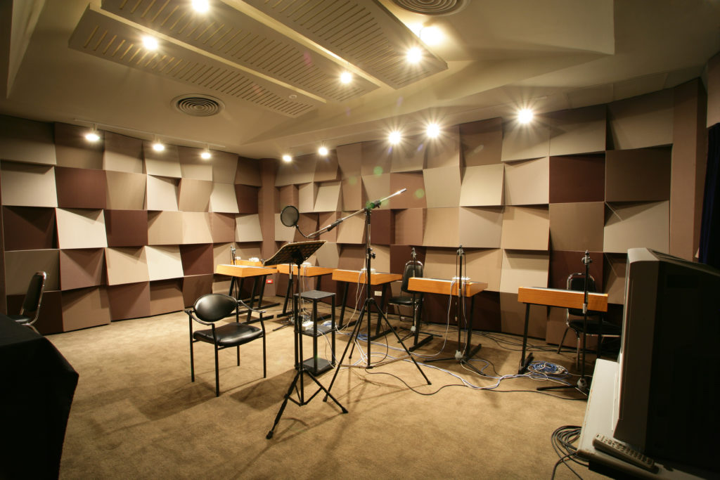 Recording studios require the right acoustic atmosphere