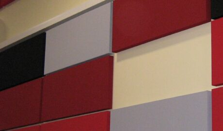 Acoustic wall panels as a feature